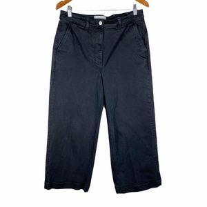 Everlane black wide leg cropped jeans size 14